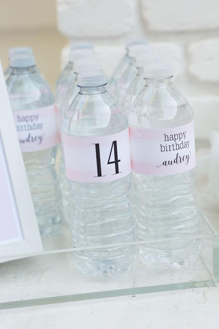 14th birthday party ideas ; Pretty-In-Pink-14th-Birthday-Party-via-Karas-Party-Ideas-KarasPartyIdeas-2