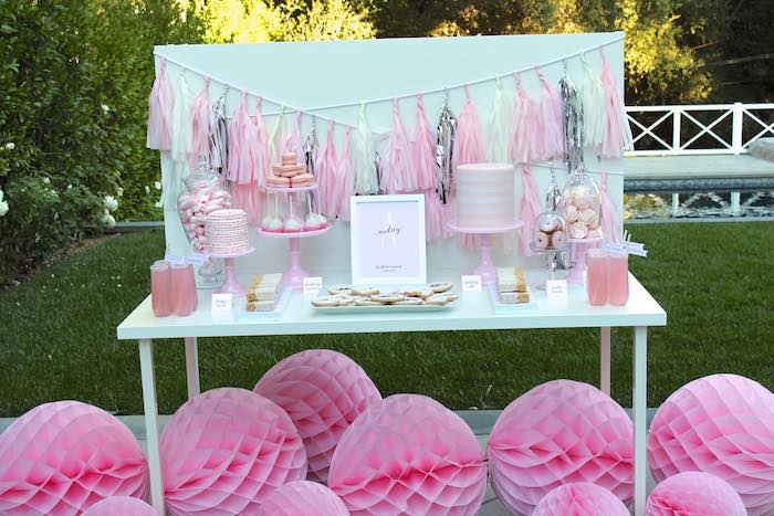 14th birthday party ideas ; Pretty-In-Pink-14th-Birthday-Party-via-Karas-Party-Ideas-KarasPartyIdeas