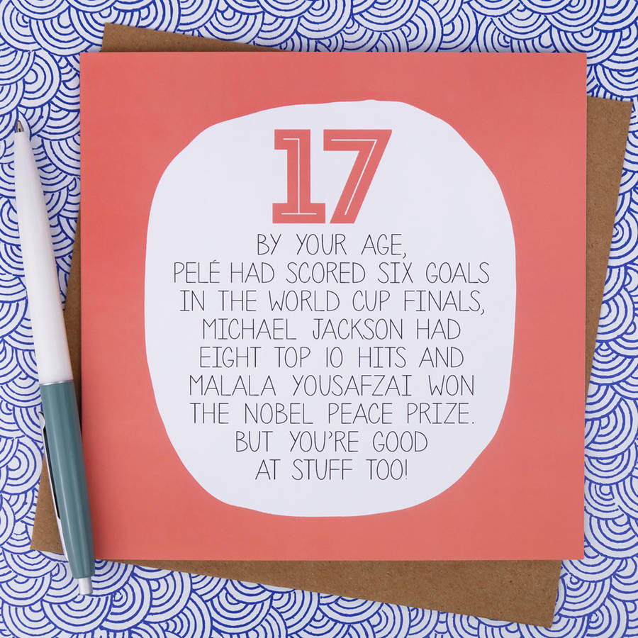 17th birthday card ideas ; original_by-your-age-17th-birthday-card