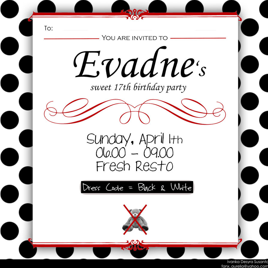 17th birthday invitation templates ; Birthday-Invitation-Card-Popular-17th-Birthday-Invitation-Ideas