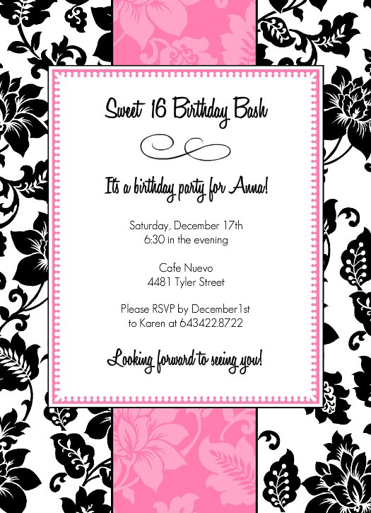 17th birthday invitation templates ; sweet-16-invitation-maker-fresh-birthday-invitation-for-teenagers-orderecigsjuicefo-of-sweet-16-invitation-maker