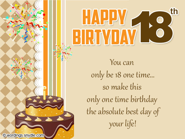 18th birthday card messages ; 18th-birthday-card-wordings