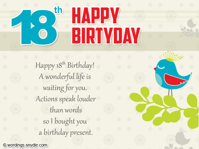 18th birthday card messages ; 18th-birthday-wishes