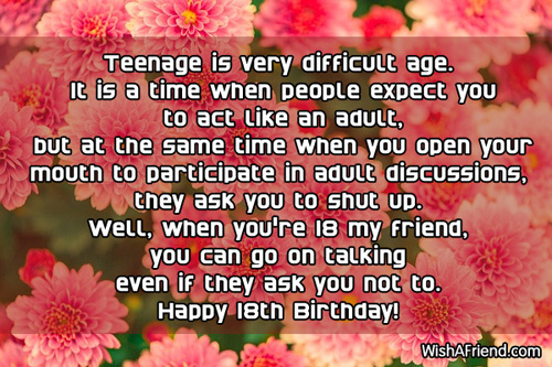 18th birthday card messages ; 590-18th-birthday-wishes