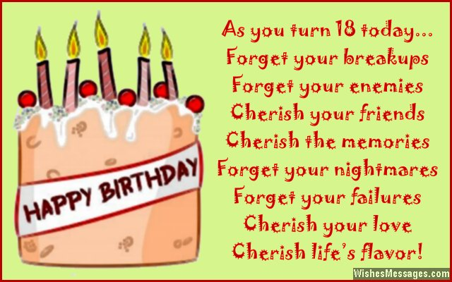 18th birthday card messages ; Sweet-18th-birthday-card-message