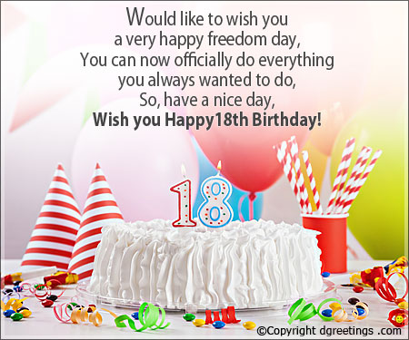 18th birthday card messages ; Th-Birthday-Htm-Lovely-18th-Birthday-Card-Messages