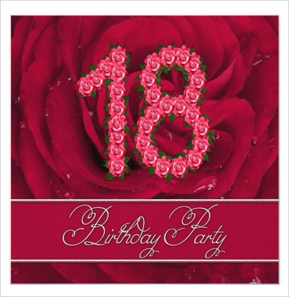 18th birthday card template ; 18th%2520birthday%2520invitation%2520cards%2520printable%2520;%252018th-Birthday-Invitation-Template-with-Roses