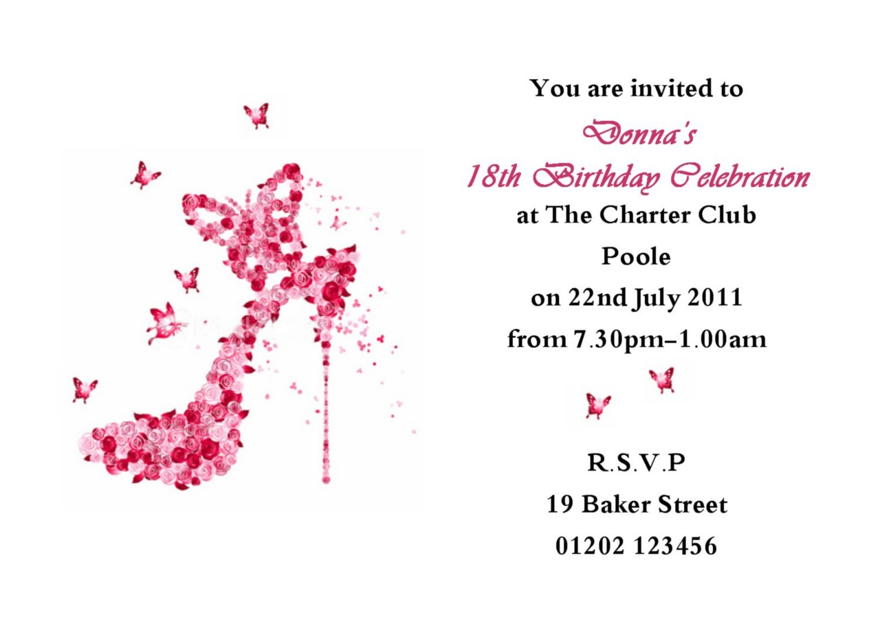 18th birthday card template ; personalised-invitation-cards-template-pp5ght94