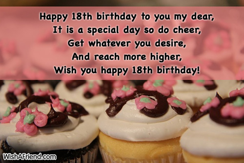 18th birthday message for a friend ; 10339-18th-birthday-wishes