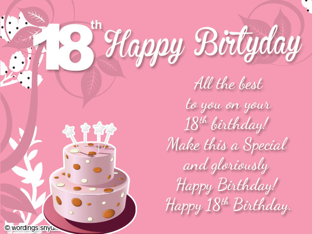 18th birthday message for a friend ; 18th-birthday-card-messages