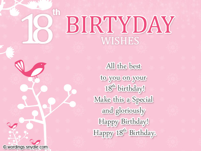 18th birthday message for a friend ; 18th-birthday-messages