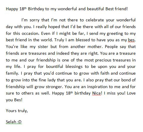 18th birthday message for a friend ; CD_8DjbUgAAWJQi