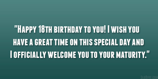 18th birthday message for a friend ; this-special-day