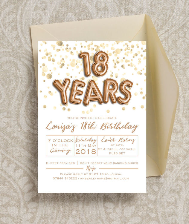 18th birthday party invitation ideas ; BalloonLettersinv18-3-rose-gold-foil-letter-balloons-birthday-party-invitations-invites-printed-printable