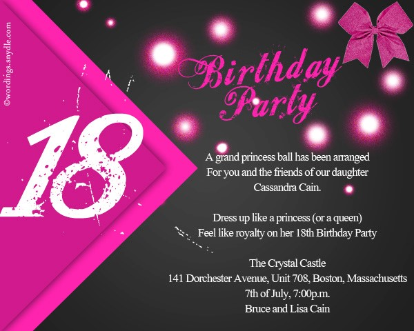 18th birthday party invitation ideas ; Simple-18Th-Birthday-Party-Invitations-As-An-Extra-Ideas-About-Printable-Birthday-Invitations