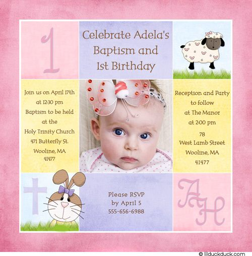 1st birthday and baptism combined invitation wording ; 611f7df2aff73520077bd1e0722840b2