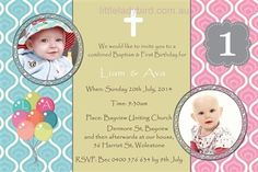 1st birthday and baptism combined invitation wording ; 9de69065f18ad057e6df48dfca9b5769--st-birthday-parties-birthday-party-invitations