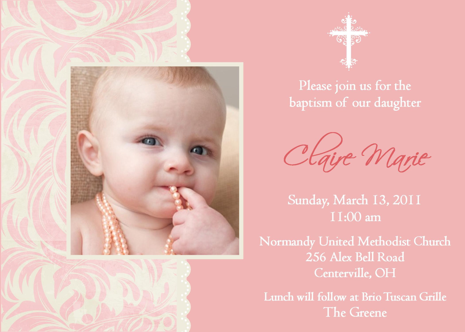 1st Birthday And Baptism Combined Invitation Wording Best