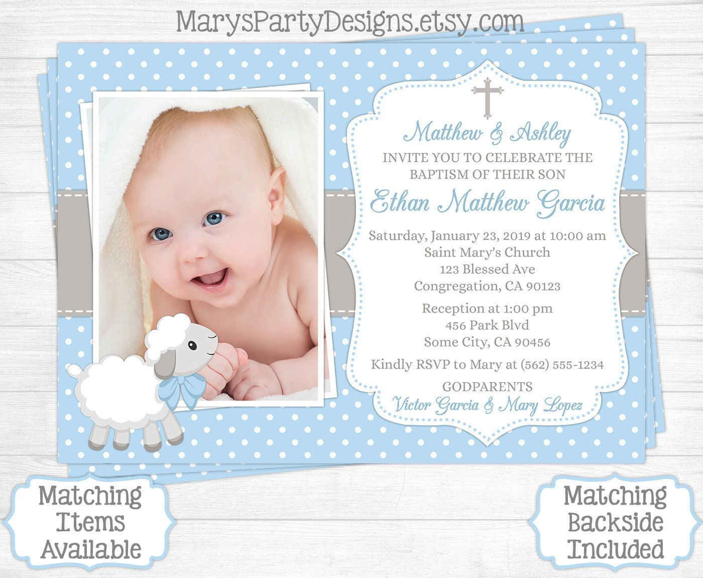 1st birthday and baptism combined invitation wording ; joint-birthday-and-baptism-invitations