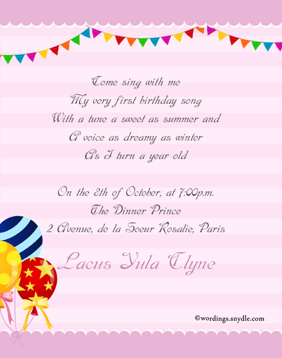 1st birthday girl message ; 1st-birthday-invitation-cards-for-girl