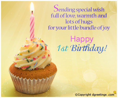 1st birthday girl message ; first-birthday-wishes-greeting-cards-bday-17