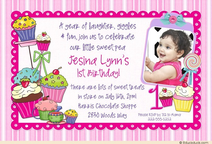 1st birthday invitation cards in telugu ; Sweet-Shoppe-Treats-Birthday-purple-pink-1-photo-1st