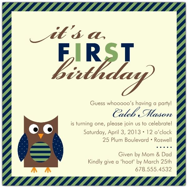 1st birthday invitation wording from parents ; 2c6e7c8d7f5a32bc560af1191f6a7698--first-birthday-invitations-baby-owls