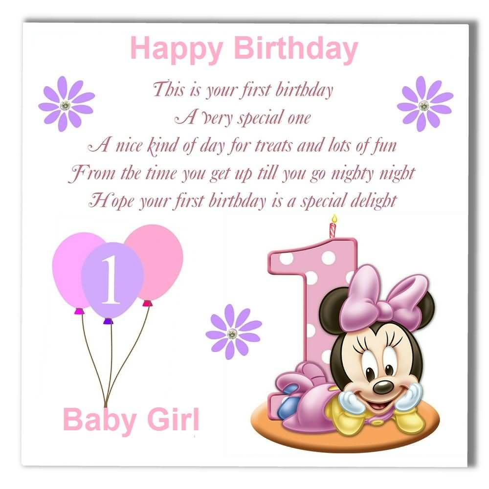 1st birthday message for niece ; nice-e-card-birthday-wishes-for-baby-girl