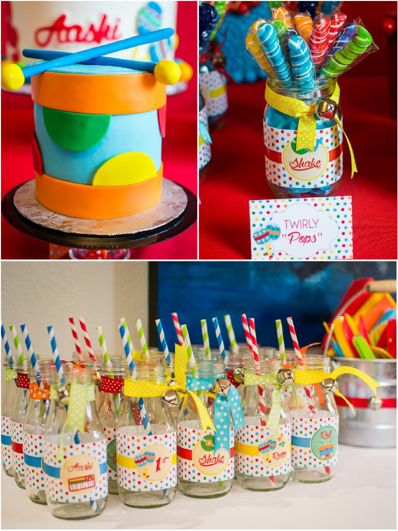1st birthday party ; birthday-music-party-ideas