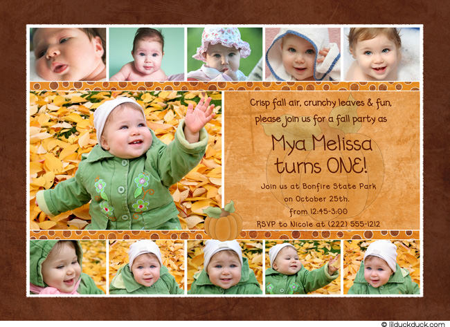 1st birthday picture collage ; 1st-birthday-photo-collage-pumpkin-1st-birthday-collage-card-photos-invitation-little-one-free