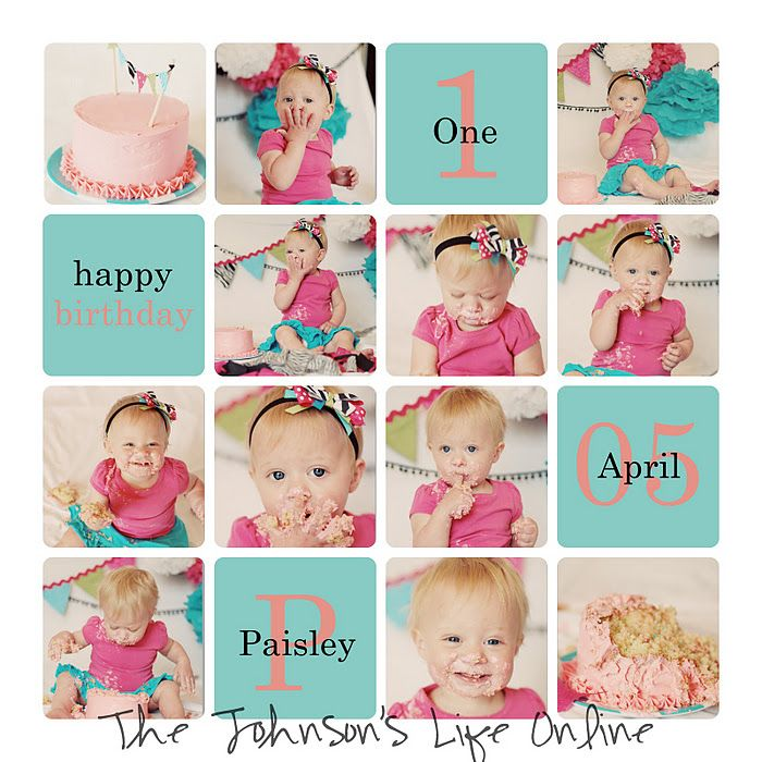 1st birthday picture collage ; 2ff516f05d5d8ee47dd9c0f3f6c634a5