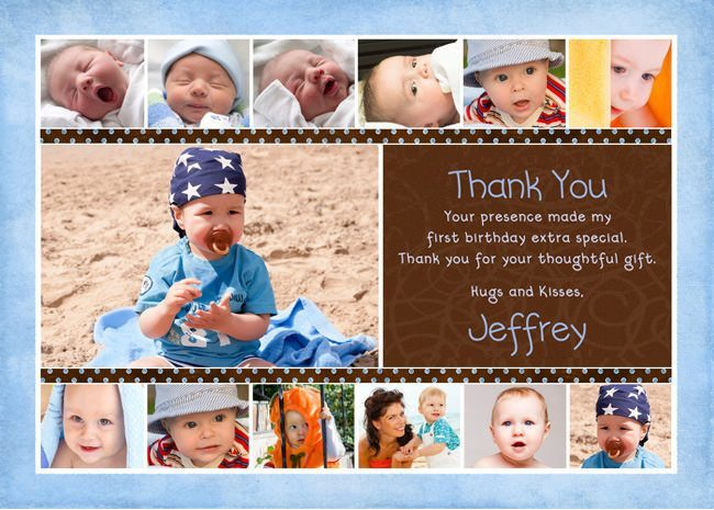 1st birthday picture collage ; Blue-Brown-Collage-Photo-Birthday-Thank-You-13-photo