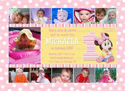 1st birthday picture collage ; baby_minnie_collage1