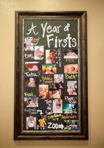 1st birthday picture collage ; yearoffirstspost