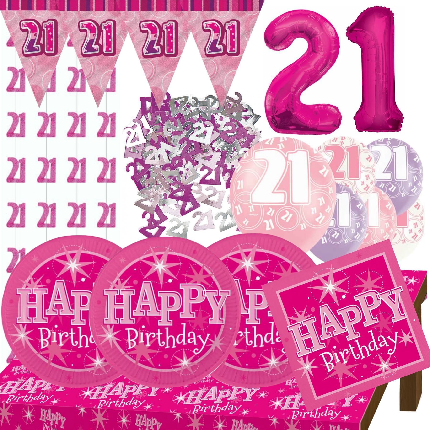 21st birthday banners and balloons ; 797d79bf-17c3-4e1f-bdca-fc97fba4520a