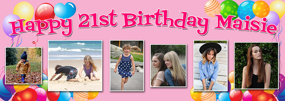 21st birthday banners and balloons ; TIYL21-Balloon-background-6-photo