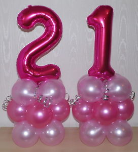 21st birthday banners and balloons ; s-l300-1