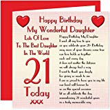 21st birthday card verses for daughter ; 912xVl0gRuL