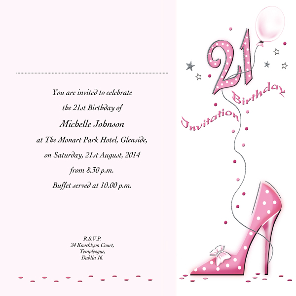 21st birthday invitation card ideas ; 870