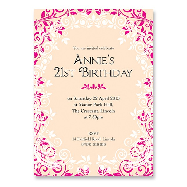 21st birthday invitation card ideas ; nvb123