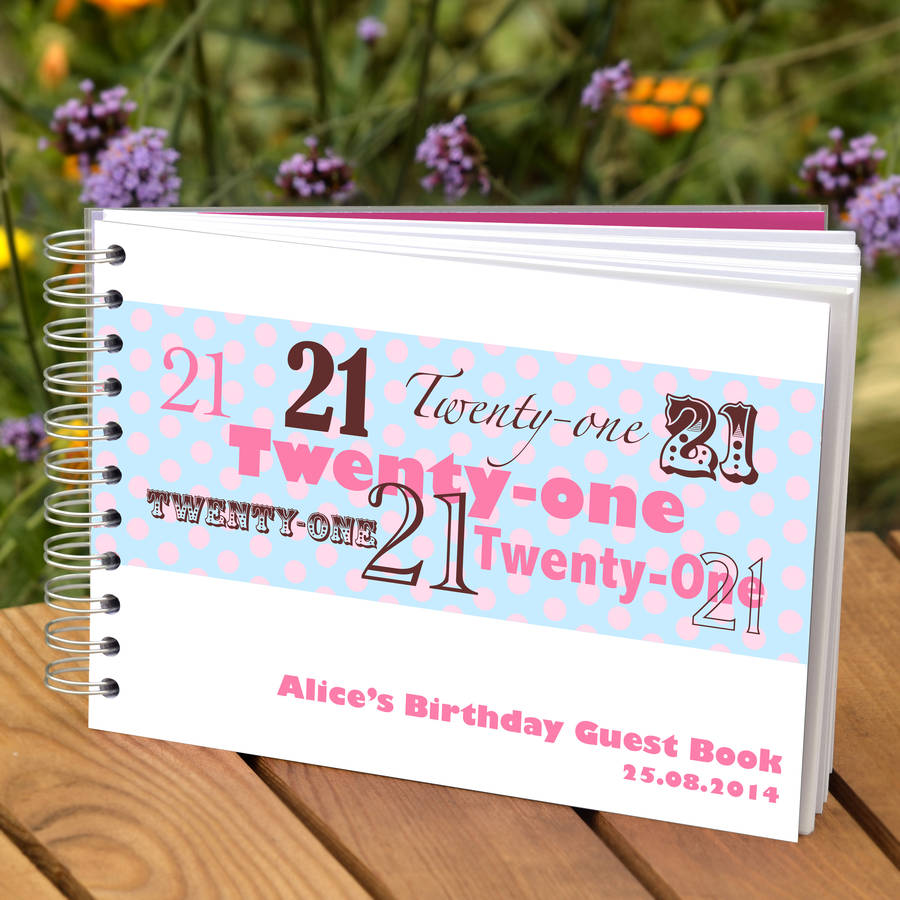 21st birthday photo book examples ; original_personalised-21st-birthday-guest-book
