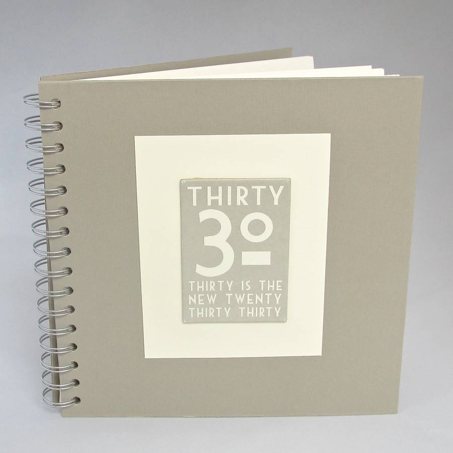 21st birthday photo book ideas ; original_30th-birthday-memories-album-keepsake-book