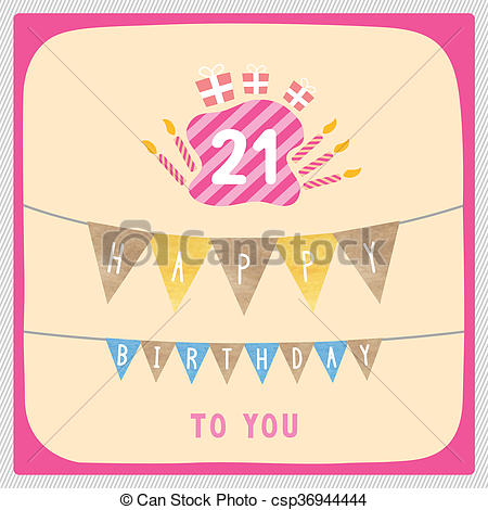 21st birthday pictures clip art ; happy-21st-birthday-card-drawing_csp36944444