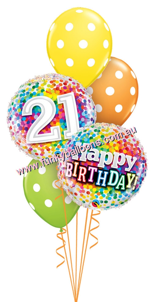 21st birthday pictures clip art ; rainbowconfetti_polka_21