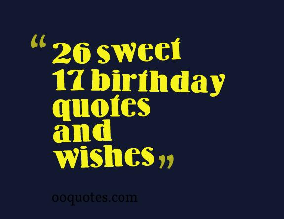 26th birthday wishes poem ; 17-birthday-quotes