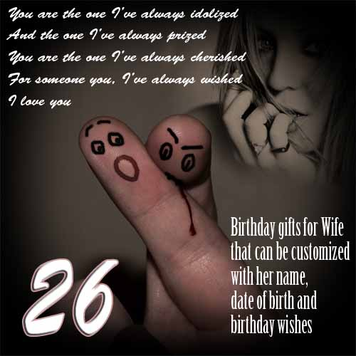 26th birthday wishes poem ; Wife-Birthday-26-03