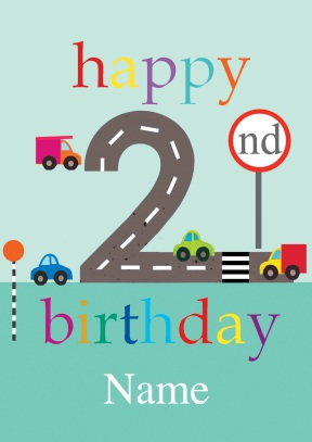 2nd birthday card ; 109655_front