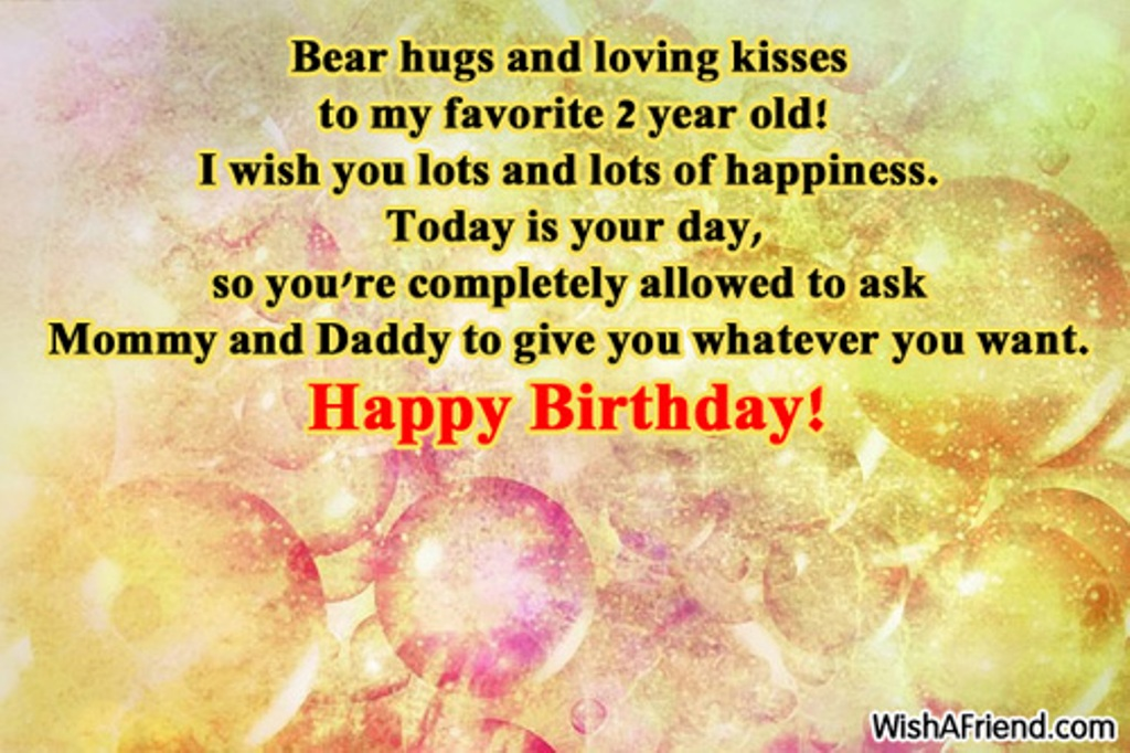 2nd birthday message for baby boy ; Bear-Hugs-And-Loving-Kisses-sb1201