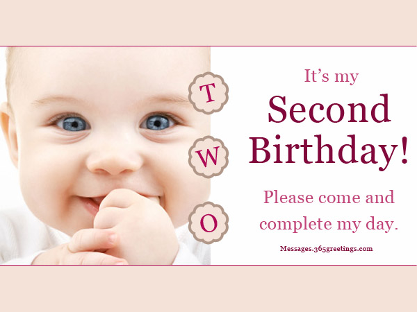 2nd birthday message for my son ; 2nd-birthday-invitations-and-wording-365greetings-2nd-birthday-party-invites