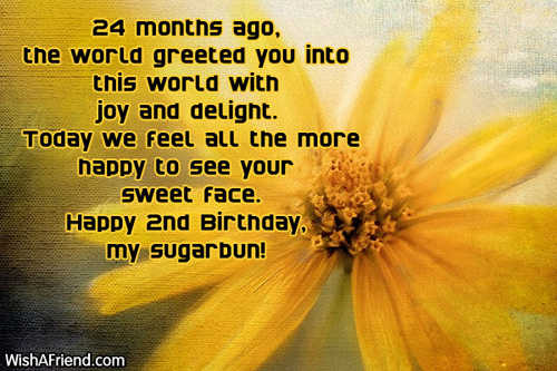 2nd birthday message for my son ; 557-2nd-birthday-wishes